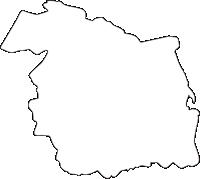 熊本県南阿蘇村(みなみあそむら)の白地図無料ダウンロード