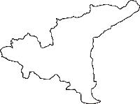 熊本県御船町(みふねまち)の白地図無料ダウンロード