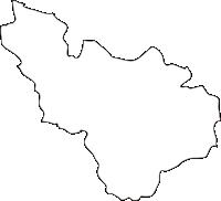 熊本県甲佐町(こうさまち)の白地図無料ダウンロード