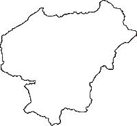 熊本県山都町(やまとちょう)の白地図無料ダウンロード