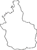 熊本県津奈木町(つなぎまち)の白地図無料ダウンロード