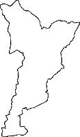 熊本県相良村(さがらむら)の白地図無料ダウンロード