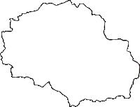 熊本県五木村(いつきむら)の白地図無料ダウンロード
