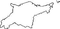 大分県大分市(おおいたし)の白地図無料ダウンロード