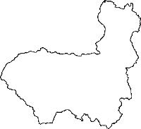 大分県中津市(なかつし)の白地図無料ダウンロード