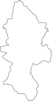大分県日田市(ひたし)の白地図無料ダウンロード