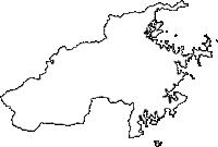 大分県佐伯市(さいきし)の白地図無料ダウンロード