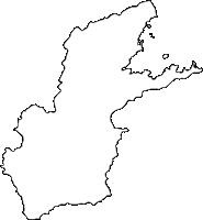 大分県臼杵市(うすきし)の白地図無料ダウンロード
