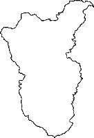 大分県竹田市(たけたし)の白地図無料ダウンロード