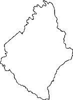 大分県豊後高田市(ぶんごたかだし)の白地図無料ダウンロード