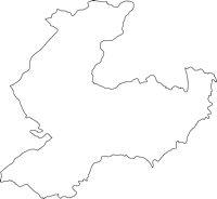 大分県由布市(ゆふし)の白地図無料ダウンロード