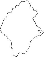 大分県九重町(ここのえまち)の白地図無料ダウンロード