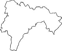大分県玖珠町(くすまち)の白地図無料ダウンロード