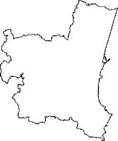 宮崎県宮崎市(みやざきし)の白地図無料ダウンロード