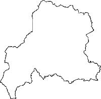 宮崎県小林市(こばやしし)の白地図無料ダウンロード