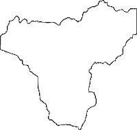 宮崎県えびの市(えびのし)の白地図無料ダウンロード