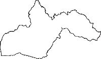 宮崎県高原町(たかはるちょう)の白地図無料ダウンロード
