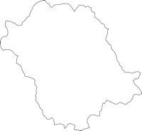 宮崎県西米良村(にしめらそん)の白地図無料ダウンロード