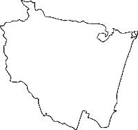 宮崎県川南町(かわみなみちょう)の白地図無料ダウンロード