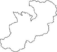 宮崎県美郷町(みさとちょう)の白地図無料ダウンロード
