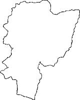 宮崎県高千穂町(たかちほちょう)の白地図無料ダウンロード