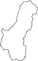 宮崎県日之影町(ひのかげちょう)の白地図無料ダウンロード