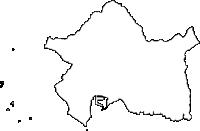 鹿児島県枕崎市(まくらざきし)の白地図無料ダウンロード