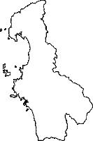 鹿児島県阿久根市(あくねし)の白地図無料ダウンロード
