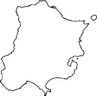 鹿児島県指宿市(いぶすきし)の白地図無料ダウンロード