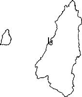 鹿児島県西之表市(にしのおもてし)の白地図無料ダウンロード