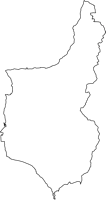 鹿児島県垂水市(たるみずし)の白地図無料ダウンロード