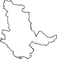 鹿児島県曽於市(そおし)の白地図無料ダウンロード