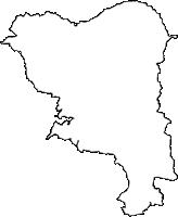 鹿児島県霧島市(きりしまし)の白地図無料ダウンロード