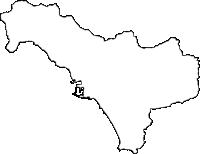 鹿児島県いちき串木野市(いちきくしきのし)の白地図無料ダウンロード