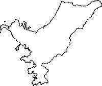 鹿児島県南さつま市(みなみさつまし)の白地図無料ダウンロード