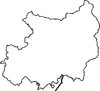 鹿児島県志布志市(しぶしし)の白地図無料ダウンロード