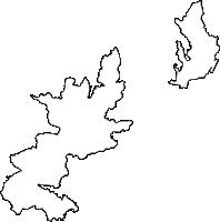 鹿児島県奄美市(あまみし)の白地図無料ダウンロード