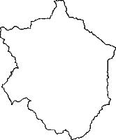 鹿児島県伊佐市(いさし)の白地図無料ダウンロード