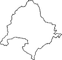 鹿児島県姶良市(あいらし)の白地図無料ダウンロード
