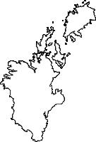 鹿児島県長島町(ながしまちょう)の白地図無料ダウンロード