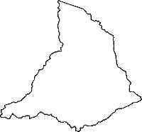 鹿児島県湧水町(ゆうすいちょう)の白地図無料ダウンロード