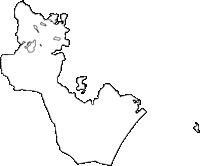 鹿児島県大崎町(おおさきちょう)の白地図無料ダウンロード