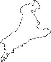 鹿児島県南大隅町(みなみおおすみちょう)の白地図無料ダウンロード