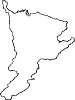 鹿児島県肝付町(きもつきちょう)の白地図無料ダウンロード