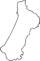 鹿児島県中種子町(なかたねちょう)の白地図無料ダウンロード