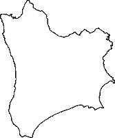 鹿児島県南種子町(みなみたねちょう)の白地図無料ダウンロード