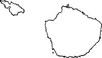 鹿児島県屋久島町(やくしまちょう)の白地図無料ダウンロード
