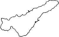 鹿児島県和泊町(わどまりちょう)の白地図無料ダウンロード