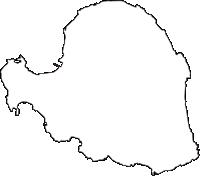 鹿児島県与論町(よろんちょう)の白地図無料ダウンロード