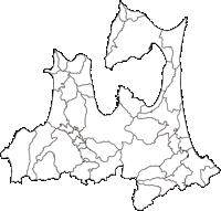 青森県(あおもりけん)の白地図無料ダウンロード